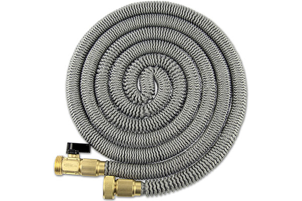 the titan expandable garden hose is a well made garden hose it is lightweight and can expand to up to 75 ft it comes with cast brass couplings that are - Best Expandable Garden Hose