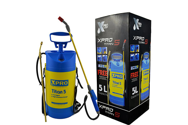 best garden sprayer. The Xpro Titan 5 Pressure Sprayer Is Made Withpremium Quality Materials. It Features A 1.3-gallon Capacity Tank, With Multi-purpose Usage And Max Best Garden